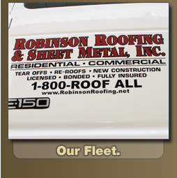 Robinson Roofing & Sheet Metal Inc. - Our Fleet