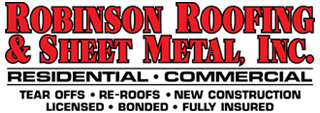 Robinson Roofing & Sheet Metal, call us at one eight hundred roof all